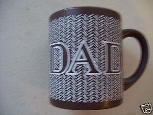 1989 Enesco Dad Brown Coffee Tea Mug Cup