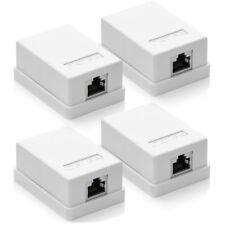 deleyCON 4x CAT 6a Netzwerkdose Aufputz FTP RJ45 Buchse Netzwerk Daten LAN Dose