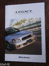 Subaru Legacy 2.5 GX S. AWD / 2.0 GL Sedan + Touring W.AWD, Prospekt F, ca. 2002