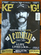 RIP LEMMY MOTORHEAD KERRANG SPECIAL TRIBUTE ISSUE, FAREWELL FEATURE SECTION 2015