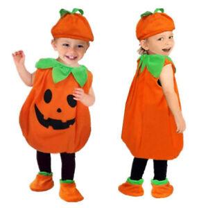 Toddler Pumpkin Cutie Pie Costume Girls Boys Halloween Babies Fancy Dress Outfit