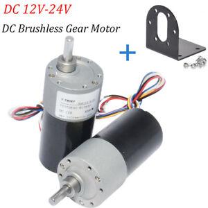 DC Brushless Gear Motor 12V 24V 1000rpm Mini Speed Control DC Motor+Free Bracket