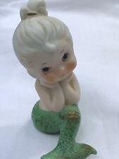 Darling Vintage Porcelain Seated Mermaid Figurine