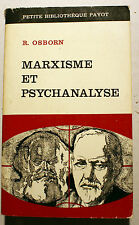 RUSSIE/MARXISME ET PSYCHANALYSE/R.OSBORN/PAYOT/1969