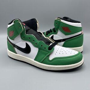 DS Air Jordan 1 Retro High OG PS Lucky Green - CU0449-300 - Size 2Y