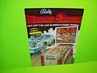 Bally Nitro GROUND SHAKER Original 1979 Flipper Game Pinball Machine Sales Flyer