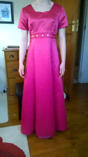 tailor-made pink prom bridesmaid princess peach dress size 8/10