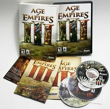 Age Of Empires III PC 3 CD-ROMs Microsoft Ensemble Studios Game Complete CD Key