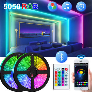 LED Strip TV Back Lights 5050 RGB 5 10 15m Bluetooth APP Remote for Bar Room USB