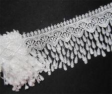1yd Vintage Fringe Embroidered Lace Edge Trim Wedding Tassel Ribbon Sewing Craft