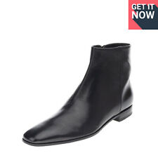 RRP €780 PRADA CANGURO Leather Ankle Boots EU 44 1/3 UK 10 US 11 Made in Italy