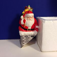 SALE Dept 56 Snow Village DOWN THE CHIMNEY HE GOES w/ box Combine Shipping!