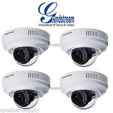 MAKE OFFER! 4 Grandstream GXV3611IR_HD Indoor Infrared Dome HD IP Cameras PoE