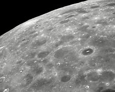 Lunar far side of the Moon viewed from orbiting Apollo 8 spacecraft Photo Print