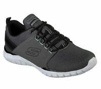 Walk Black Charcoal Skechers Shoes Men's 52821 Sport Train Mesh Lace Memory Foam