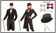 FFF Damen Kostüm Brokat Jacke schwarz-silber Karneval Fasching