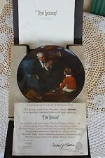 Knowles Plate Rockwell Heritage Collection - The Tycoon - Coa & Original Mailer