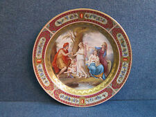 "Royal Vienna Porcelain Plate Nice Quality ""Uhrteil Des Paris"" Big Size 1850-1890"