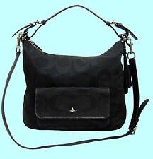 COACH 22392 LEGACY OP ART Canvas & Leather Shoulder Bag Msrp $278.00