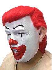Donald Trump Clown Mask Joker IT President Politician Halloween Fancy Dress