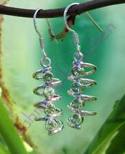 Earrings Helix with Olivine Peridot Green Stone of the August Sterling Silver