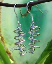 Ohrhänger Spirale mit Olivin Peridot grün Stein des August Sterling Silber 925