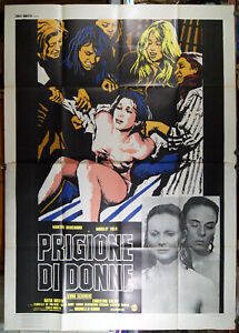 manifesto 4F film PRIGIONE DI DONNE Marilù Tolo Martine Brochard Erna Schurer
