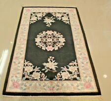 Super Fine Vintage Chinese Aubusson Rug3'x5' 100% Silk 75% OFF GREAT PRICE!!!