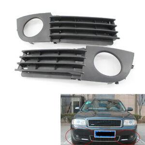 2Pcs/Set Fog Light Lamp Mesh Grille Fit for Audi A6 C5 Quattro Black 2002-2005