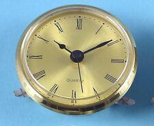 MEGA-QUARTZ 72mm BEZEL Quartz Clock  insert movement gold Roman dial