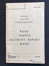 1960s Royal Ulster Constabulary Road Traffic Accident Report Book, RUC , REF1