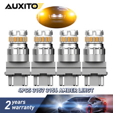 4Pcs 3157 LED CANBUS Amber Yellow Turn Signal Parking DRL High Power Light Bulb