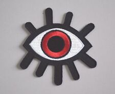 red eyeball tattoo wicca occult goth punk retro applique iron on patch A029
