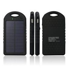 5000mAh Portable Waterproof Solar Charger Dual USB External Battery Power Bank