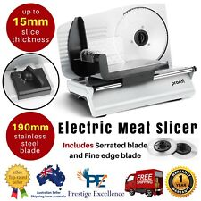 200W Pronti Deli Electric Meat Food Slicer Cheese Processor Bread Vegetable Cuts