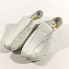 REEBOK Duty Proof Size 7.5 White Slip On Shoes Sneakers DMX Foam Slip Resistant