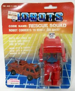 Four Star Robots Rescue Squad 1985 Transforming Robot New Sealed