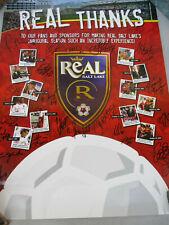 Real Salt Lake MLS Soccer Poster Signed Players Vintage Sports 2005