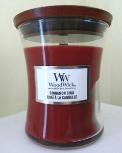 WOODWICK MEDIUM CRACKLE CANDLE CINNAMON CHAI 275G