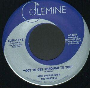 "Rare First Press Xover Gene Washington - Got To Get Through To You -  7"" Single"