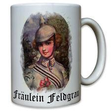 Fräulein Feldgrau Postkarte Erster Weltkrieg Pickelhaube Mädchen - Tasse #9540