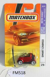 Matchbox Metro Rides Smart Cabrio Red #29 FNQHotwheels FM518