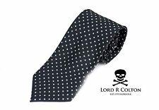 Lord R Colton Basics Tie - Black Dots & Dashes Woven Necktie - $49 Retail New