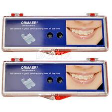 2 Kits ORMAER Dental Ortho Ceramic Brackets Braces 5*5 MBT 0.022 hooks 3 4 5 IT