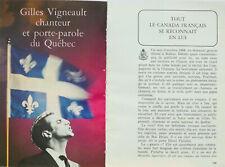 Article papier 6 pages GILLES VIGNEAULT mai 1967 P1025510
