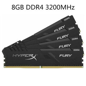 For Kingston HyperX FURY 8GB 16GB 32GB DDR4 3200MHz PC4-25600 Desktop RAM Black