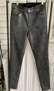 NWT $278 J Brand Maria Skinny Jeans Photo Ready Silver Lament Size 26