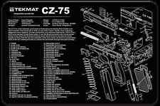 GUN CLEANING ARMOURY GUNSMITH BENCH LAP TOP MAT TEKMAT for BRNO CZ-75 9MM PISTOL