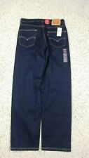NEW Levi's Men 550 Relaxed Fit Tapered Leg Dark Blue Indigo Jeans 32x32 Stretch