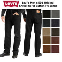 Levi's Men's 501 Original Shrink to Fit Button Fly Classic Rise Denim Jeans